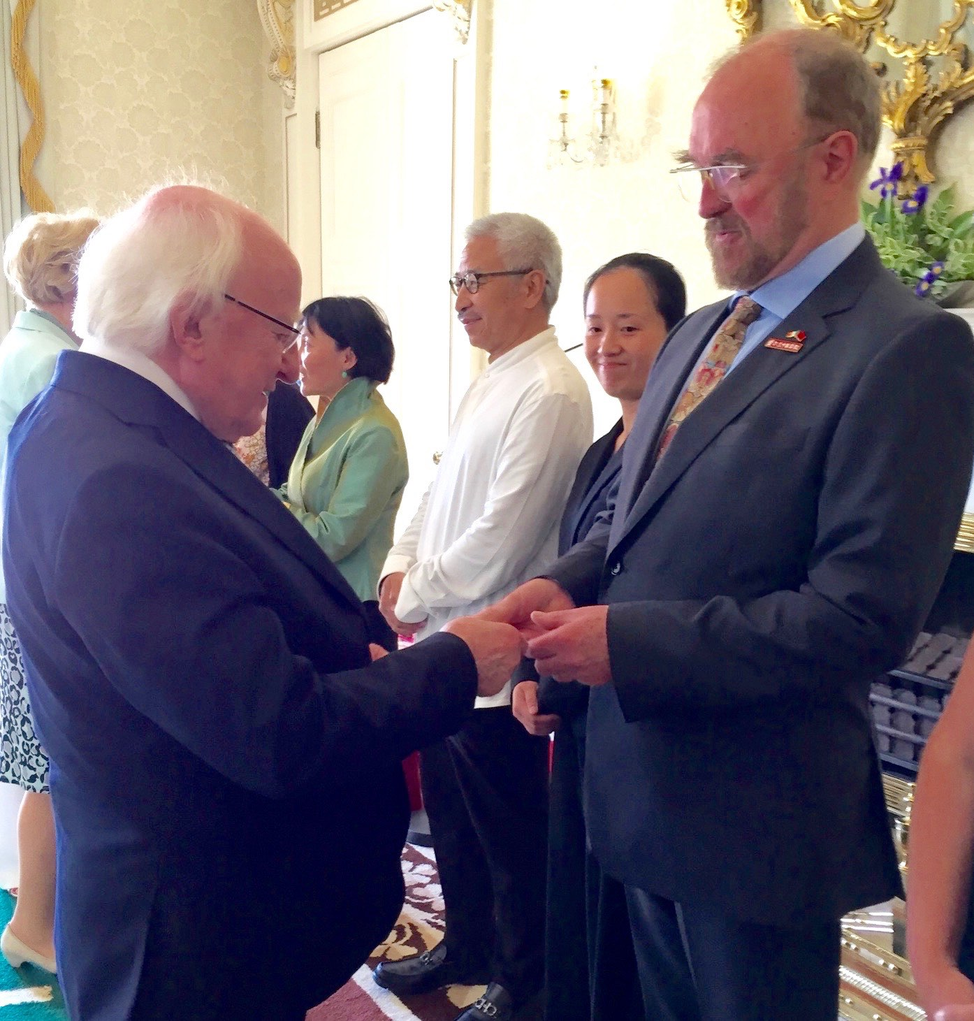 President Higgins and Professor Shanahan